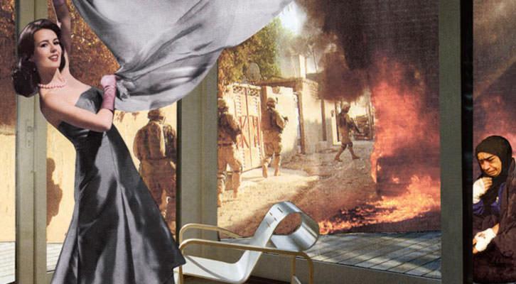 Obra de Martha Rosler, en 'Tristes armas'. IVAM.
