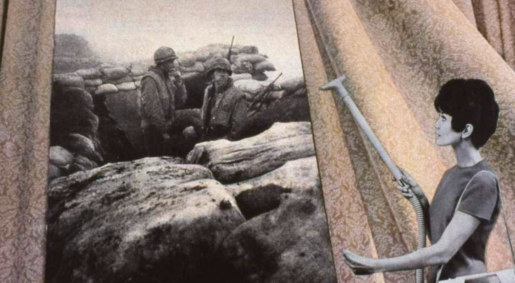 Obra de Rosler, en 'Tristes armas. Josep Renau y Martha Rosler ante la guerra'. IVAM.