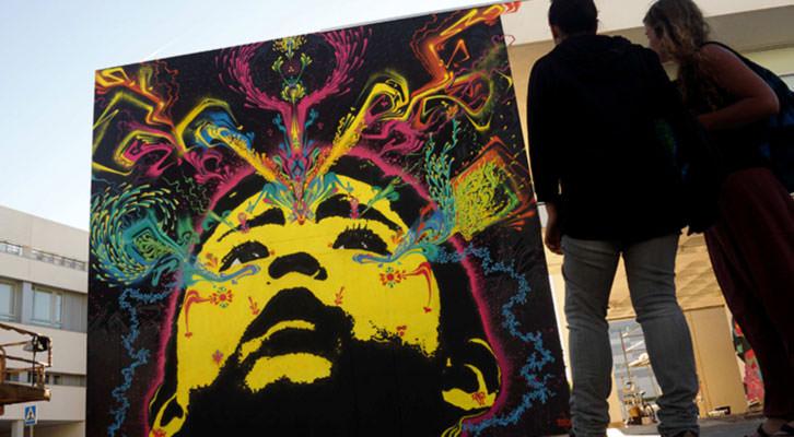Graffiti de Stinkfish en el Poliniza de 2012. Imagen cortesía de la UPV.