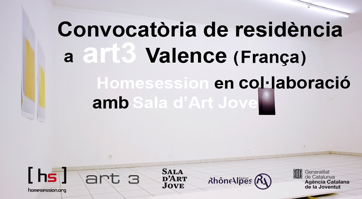 Convocatoria residencia artística art3 en Valencia (Francia).