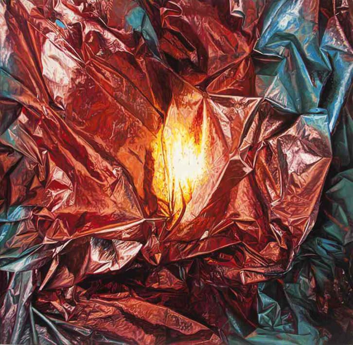 Origen, de Javier Palacios, en la exposición 'Shit Behind Beauty'. Imagen cortesía de Espai Tactel.