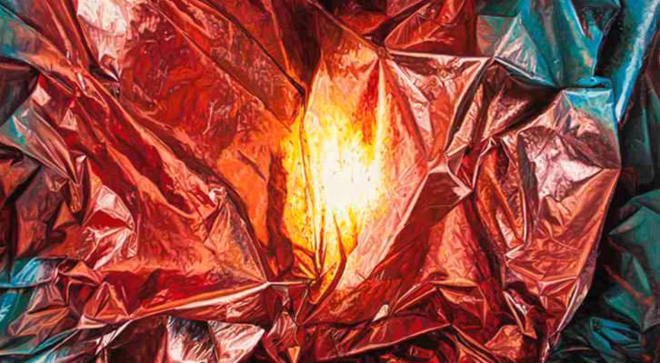 Origen, de Javier Palacios, de la exposición 'Shit Behind Beauty'. Imagen cortesía de Espai Tactel.