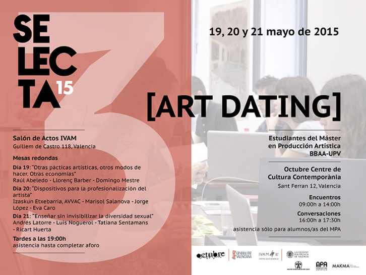 Cartel anunciador de Art Dating.