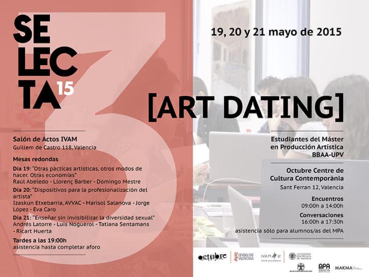 Cartel anunciador de Art Dating.