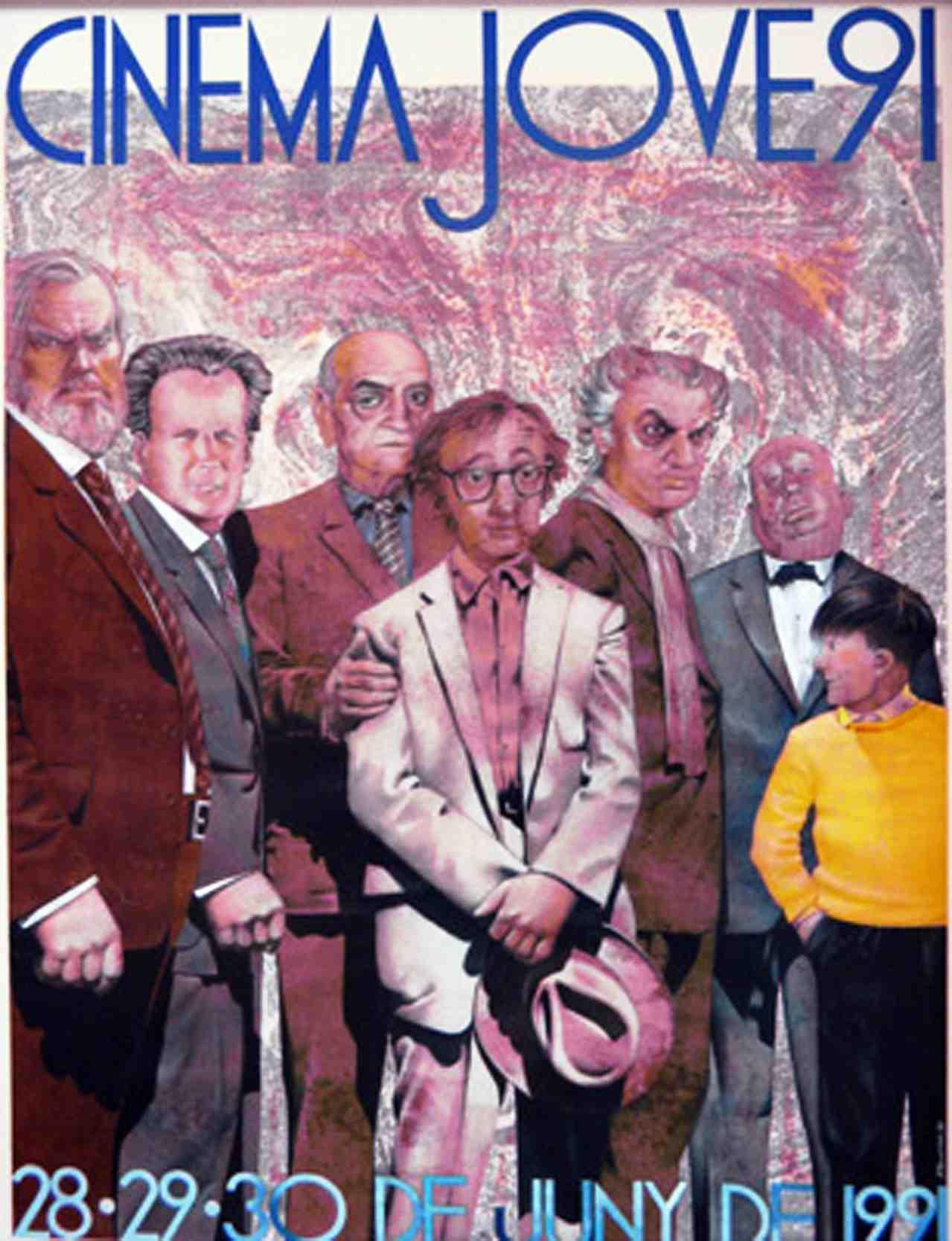 Cartel de J. Ballester del Cinema Jove de 1991. Cortesía del Festival.