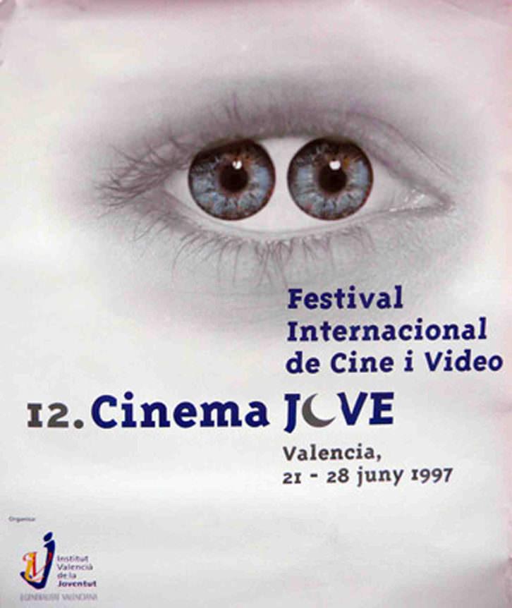 Cartel del Cinema Jove de 1997 obra de MacDiego. Cortesía del Festival.
