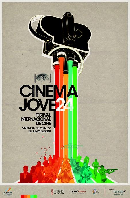 Cartel del Cinema Jove de 2009, obra de Casmic-Lab. Cortesía del Festival.