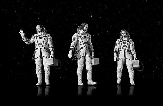 """Michael Najjar: """"space voyagers"""" 202 x 132 cm. Imagen cortesía galería Juan Silió"""