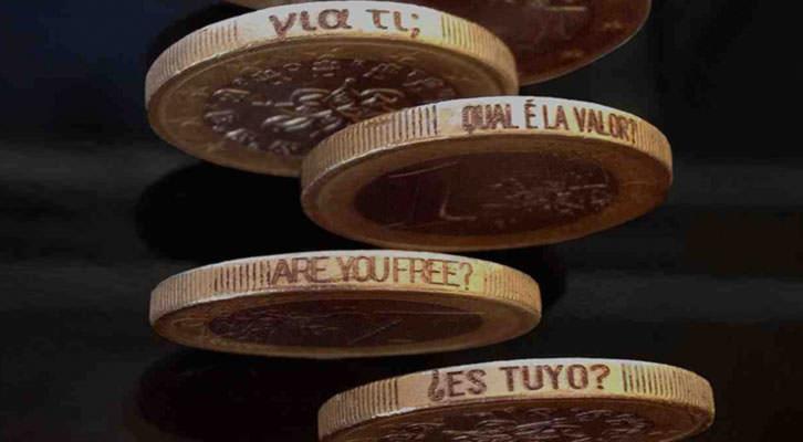 Monedas grabadas de Isidro López-Aparicio en pazYcomedias. Cortesía de la galería.