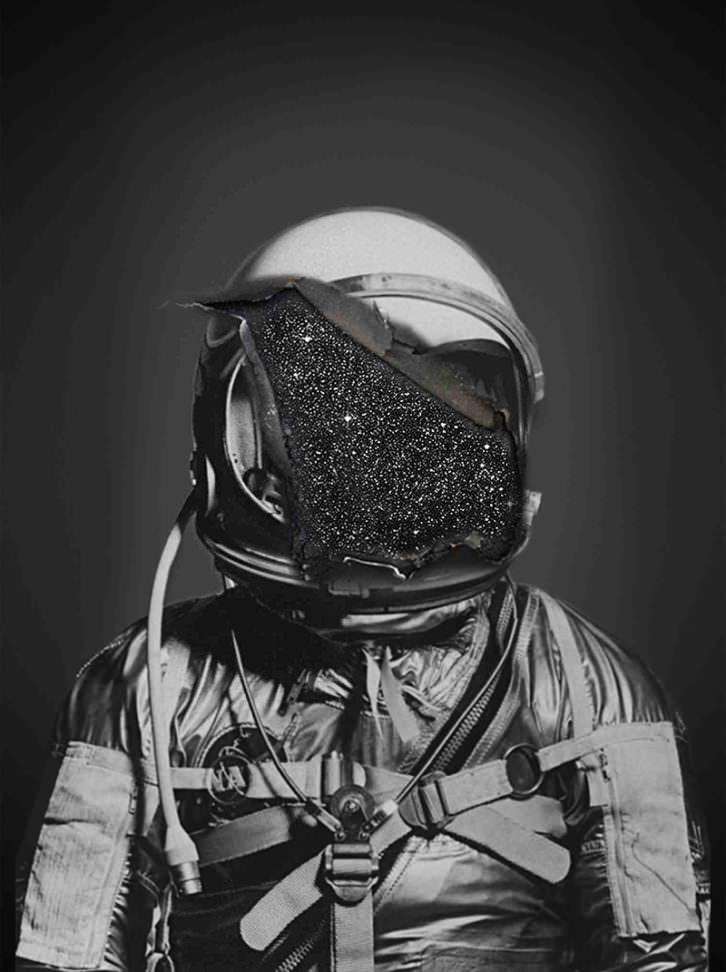 Dear Spaceman, obra de Julia Llerena en la exposición 'Pensamiento interestelar'. Imagen cortesía de AJG Gallery.