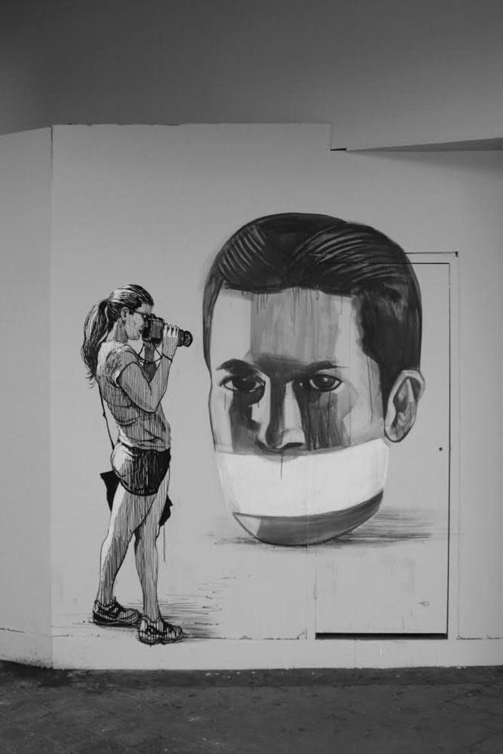 Escif. Retratar el silencio (with SAN), Valencia. Cortesía del artista.
