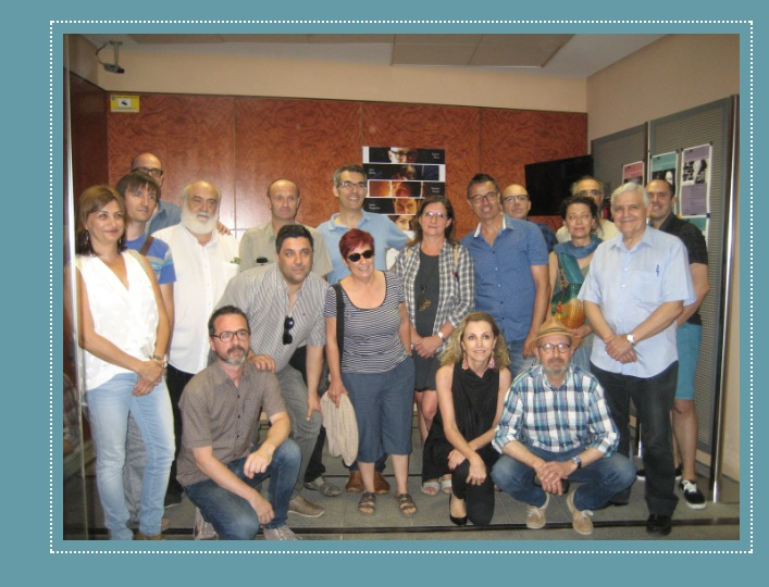 Algunos de los asistentes al acto de presentación del Festival de las Artes Escénicas de Valencia en la SGAE. Imagen de AVETID.