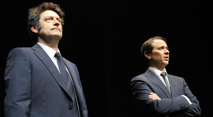 Manolo Solo (izquierda) y Luis Callejo en 'Las guerras correctas', de Gabriel Ochoa. Imagen cortesía de La Rambleta.