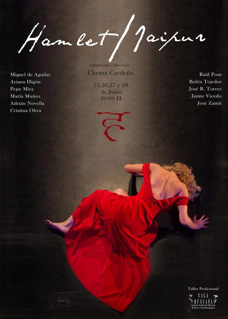 Cartel de la obra 'Hamlet-Jaipur', de Chema Cardeña. Imagen cortesía de Sala Russafa.