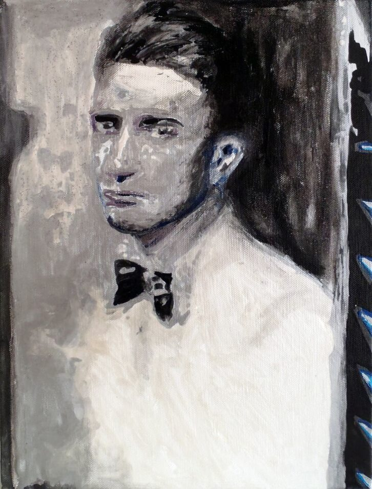 Obra de Michael Roy en la exposición 'The Spirit & The Flesh'. Imagen cortesía de Espai Tactel.