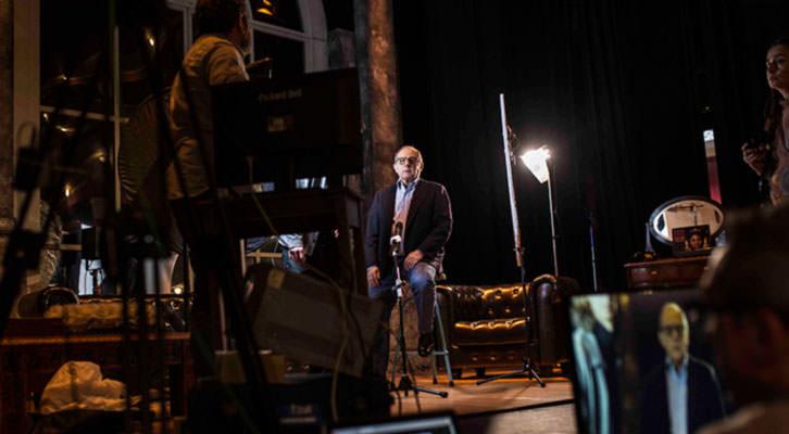 El actor Emilio Gutiérrez Caba en el Teatro Talia. Foto: Vicent Bosch.