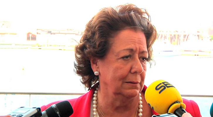 Rita Barberá, ex alcaldesa de Valencia.