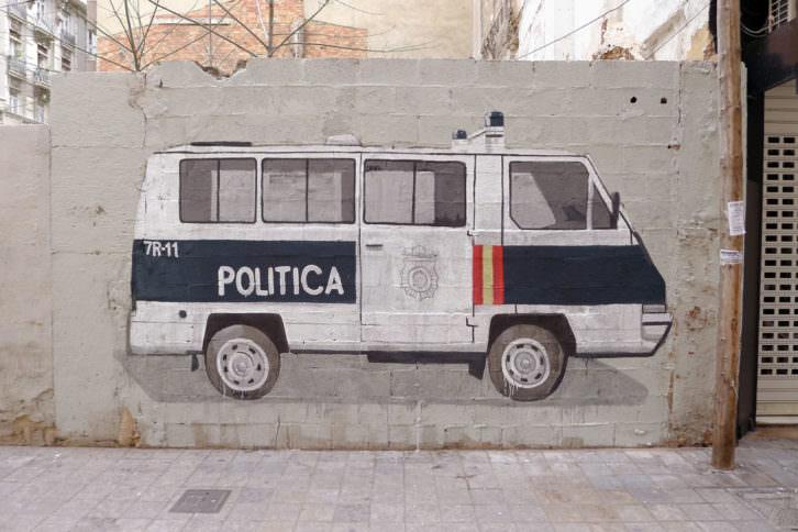 Escif. Política, Valencia. Cortesía del artista.