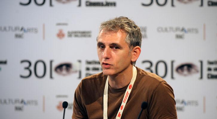 Ramón Alòs, director de 'El hombre que quiso ser Segundo', durante la presentación de la película en el marco de Cinema Jove. Cortesía del Festival Internacional de Cine de Valencia.
