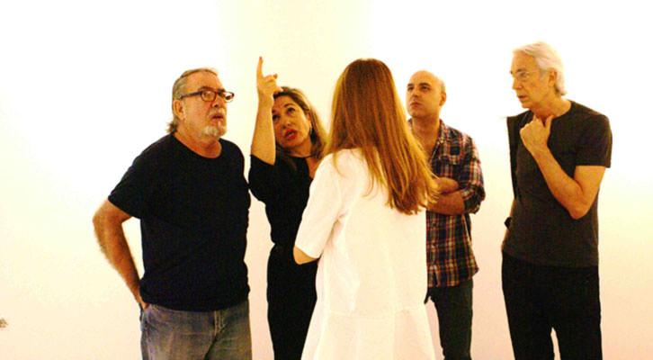 Sara Joudi, responsable de Shiras, junto a Rafael Calduch, Roberto López y Horacio Silva. Imagen cortesía de Shiras.