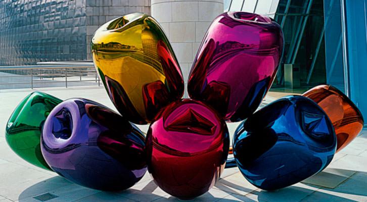 'Tulipanes', en 'Jeff Koons: Retrospectiva'. Cortesía del Museo Guggenheim Bilbao.