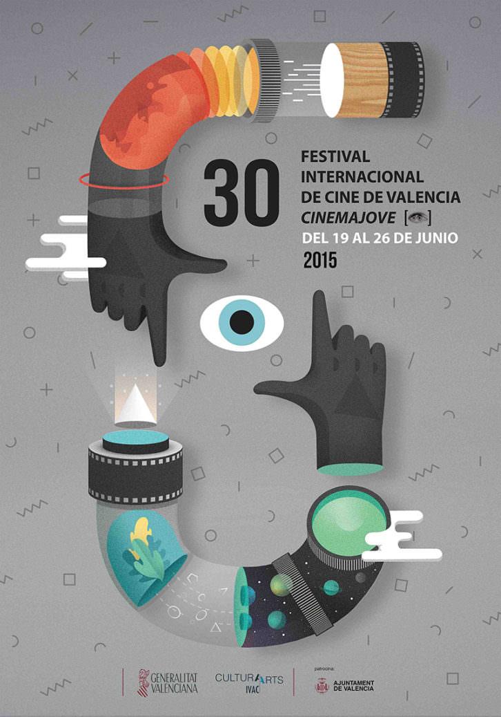 Cartel del 30 Festival Internacional de Cine de Valencia - Cinema Jove. Cortesía del Festival.