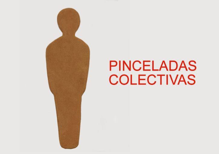 Cartel de la muestra Pinceladas colectivas. Cortesía de Imprevisual Galería.