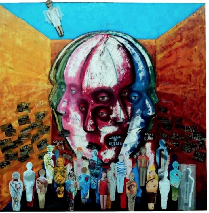 Obra de Miguel Ángel Aranda en Pinceladas colectivas. Cortesía de Imprevisual Galería.