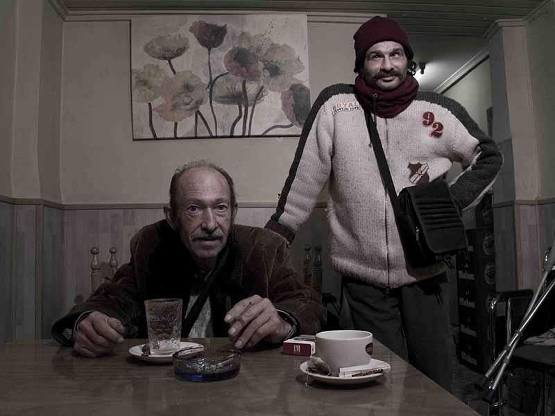 Fotografía de Pablo Llopis en 'Time to Change Art Project', en Tent Gallery de Edimburgo. Cortesía de los organizadores.