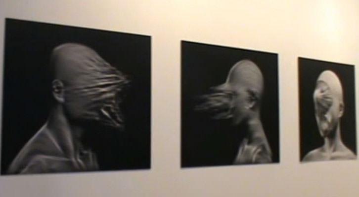 Una de las obras expuestas en la feria internacional Arte Santander 2015.