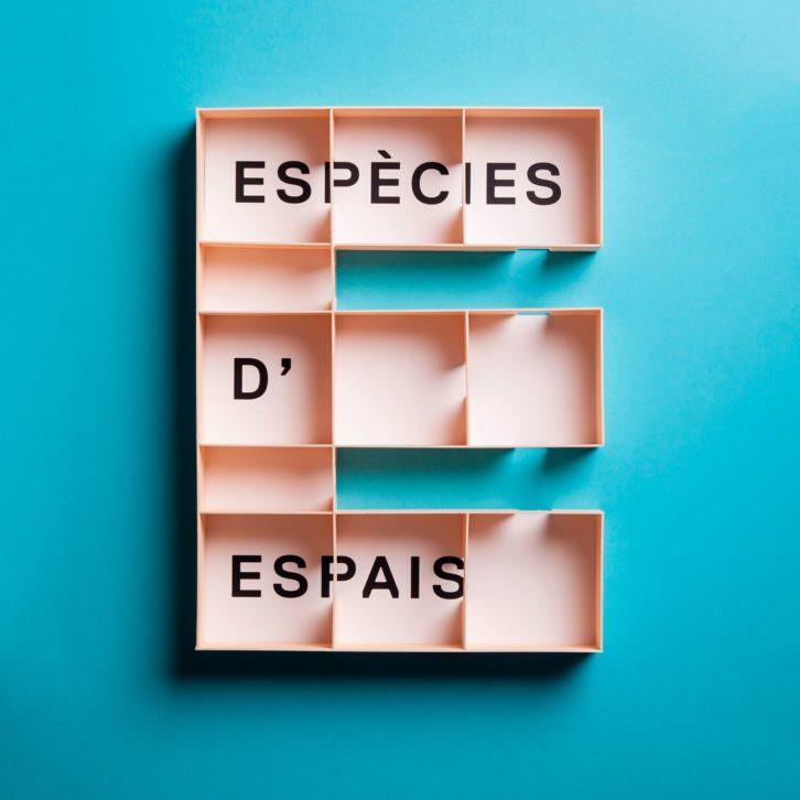 Logo de la exposición Especies de Espacios (Espècies d'espais). 2015. Cortesía de MACBA.