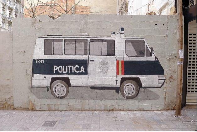 Obra de Escif. Cortesía de pazYcomedias.