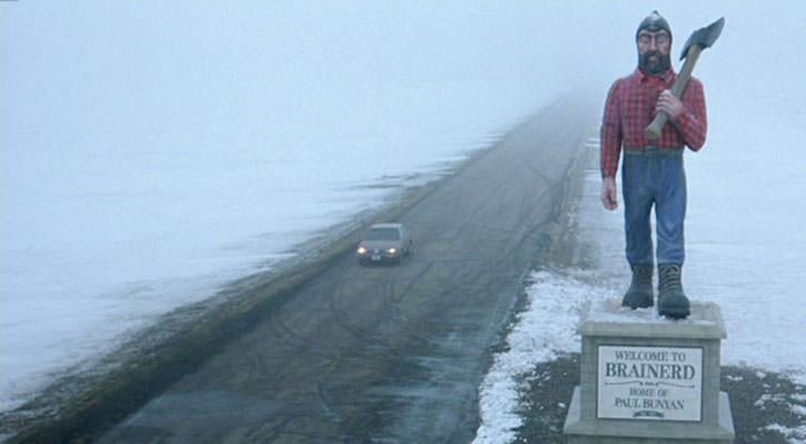 Fotograma de Fargo, de los hermanos Coen. Nits de Cinema de la Universitat de València.