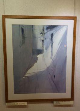 Francisco-Solano Jiménez Castro (de Torrejón de Ardoz, Madrid). Calle blanca, premio para la mejor obra presentada con la técnica de acuarela de 2014.