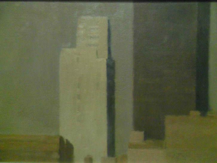 Obra de Marcelo Fuentes en su exposición 'Notas urbanas' en el Centro del Carmen.