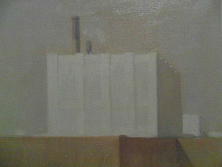 Obra de Marcelo Fuentes en su exposición 'Notas urbanas', en el Centro del Carmen.