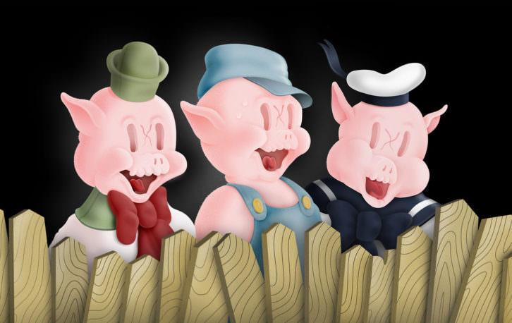 Pig Brothers, obra de Coté Escrivá en Moosey Art Gallery. Imagen cortesía del autor.