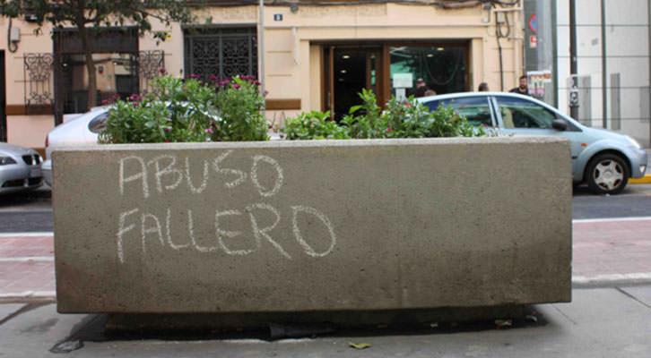 Pintada en el barrio de Ruzafa. Foto: Begoña Siles.