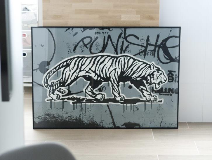 Punisher, obra de Coté Escrivá en Moosey Art Gallery. Imagen cortesía del autor.