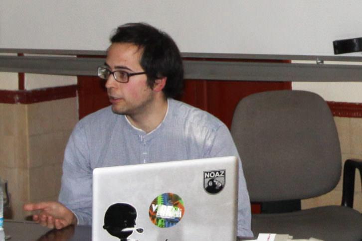 El artista, Daniel Silvo. 2013. Cortesía de Nebrija.com
