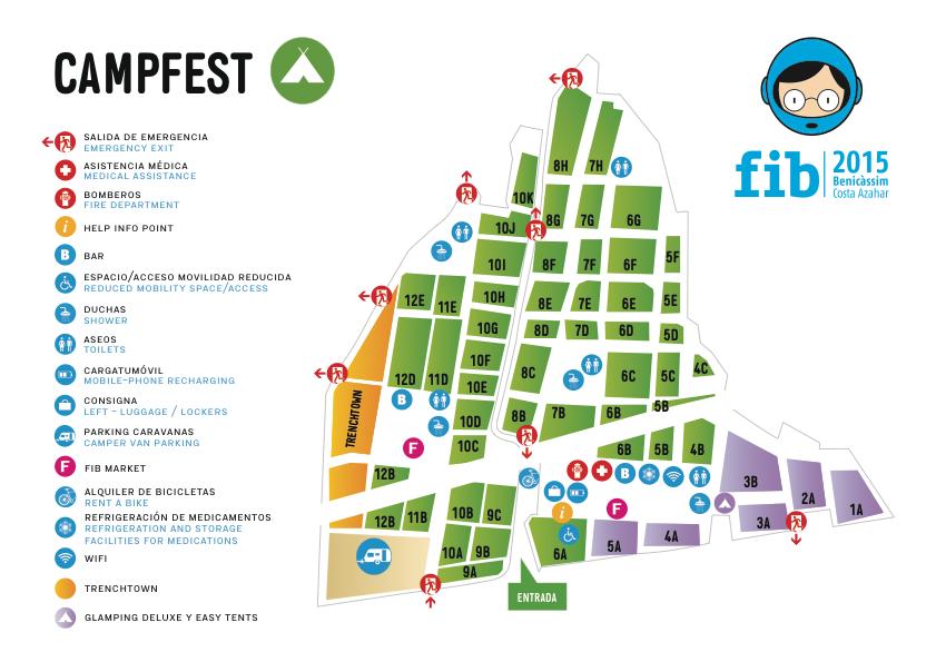 Plano del Campfest.2015. Cortesía de FIB.