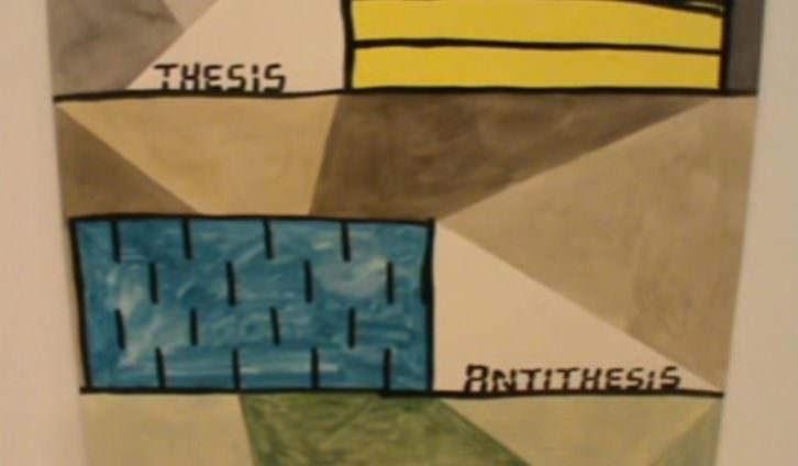 Una de las obras expuestas en la feria internacional ArteSantander 2015. Extraída del video de Néstor Navarro.