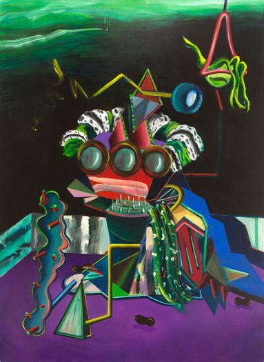 Gorka Mohamed. Peralta, 2015. Acrílico sobre lino. 240x175 cm. Cortesía del artista.