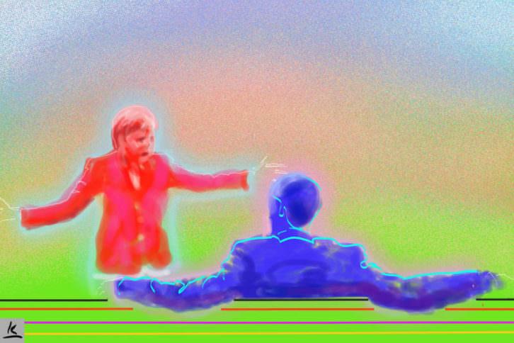 Werner Kroener. Foto de prensa de Merkel y Obama. De la serie Time Codes. Cortesia del artista.
