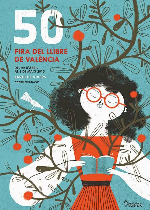 "Mar Hernández ""Malota"". Cartel ganador del Concurso Cartel 50ª Fira del Llibre València. 2014. Cortesía de Fira del Llibre."