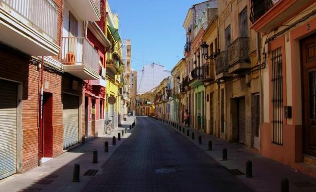Vista del barrio del Cabanyal. Cortesía de Turiart.