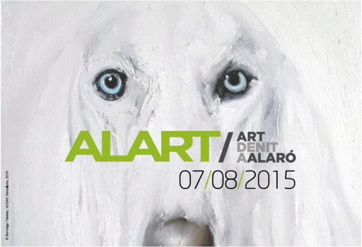 Cartel promocional de Alart. Art de nit a Alaró. 2015. Cortesía de Addaya. Centre d'Art Contemporani.