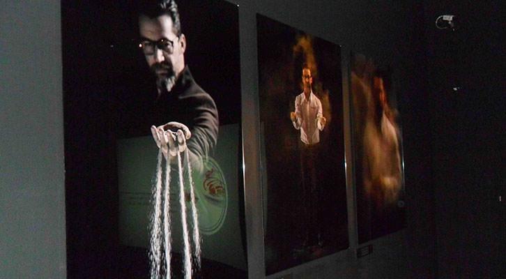 Fotografía de Quique Dacosta en la exposición del MuVIM.
