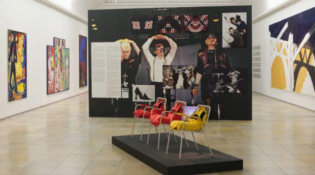 'Geniale Dilletanten'. Subcultura de los años 80, vista de la sala de exposición en 'Haus der Kunst', 2015. Fotografía de Wilfried Petzi.