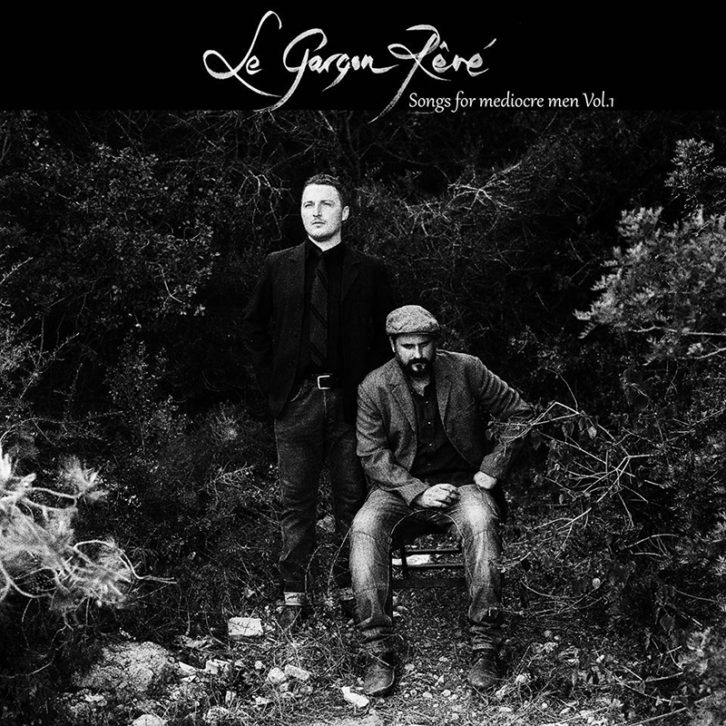 Portada del disco Songs for mediocre men vol. 1, del dúo Le Garçon Révé. Foto de Rohan Thapa y diseño de Stella Blasco.